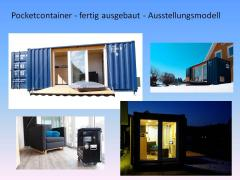pocketcontainer das mikrohaus die einraumwohnung im seecontainer jetzt kaufen einmalig im design. Black Bedroom Furniture Sets. Home Design Ideas